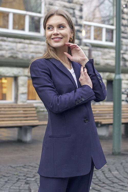 By Malene Birger Auberon Blazer Night Blue dressjakke
