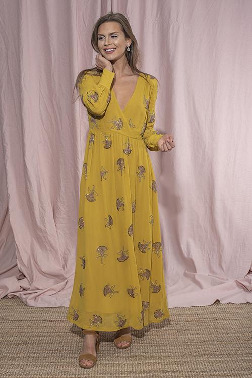 636812de < > Day Birger et Mikkelsen Sunflower Dress Lemon Curry kjole. 9