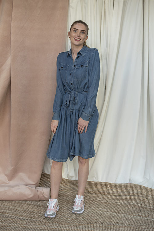 Camden Shirt Dress Medium Denim
