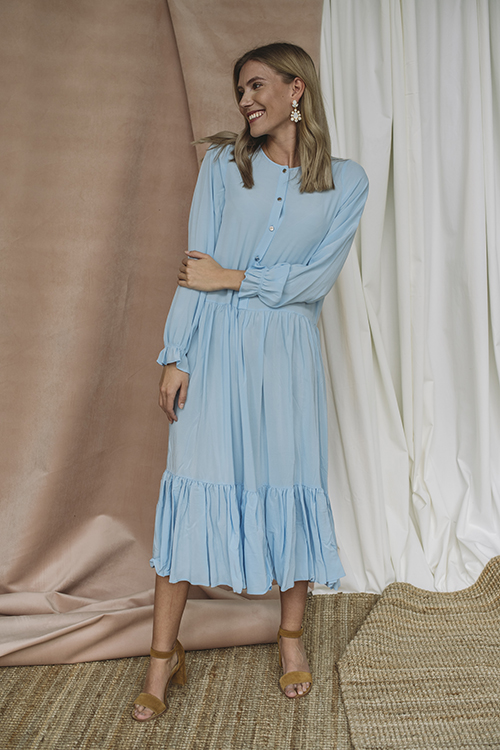 Designers Remix Nini A-Line Dress Sky Blue kjole