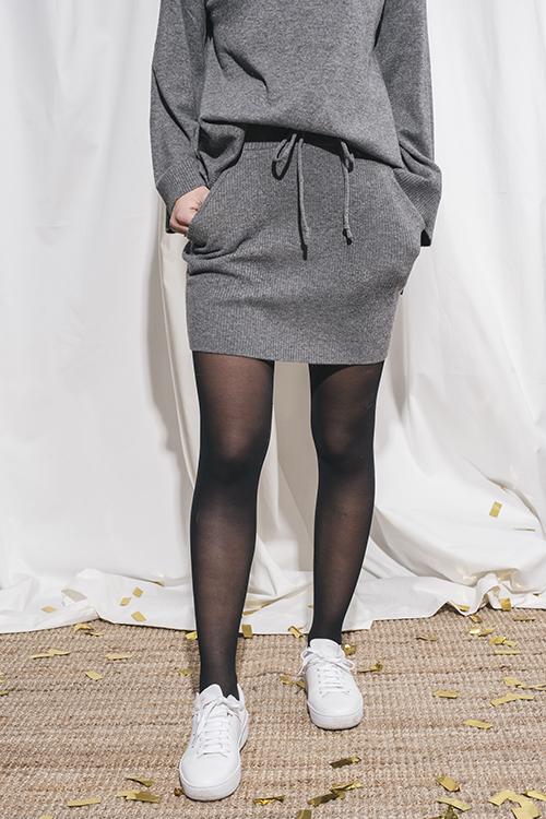 Asta Wool Skirt Grey