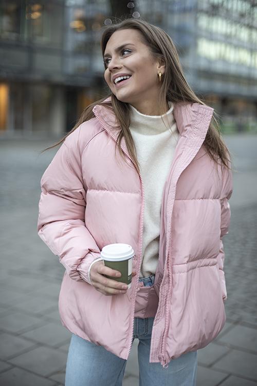 GANNI Whitman Jacket Silver Pink dunjakke