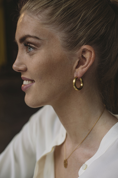 Jane kønig chunky hoops gull