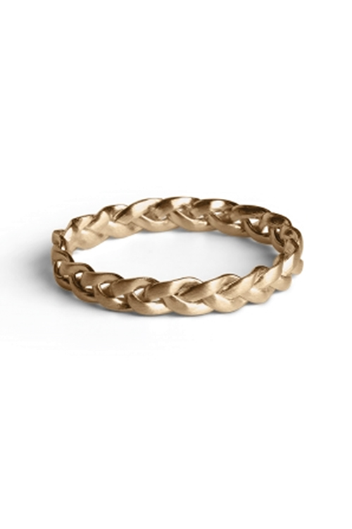 Jane Kønig Medium Braided Ring Gold ring