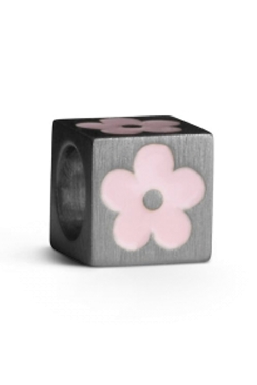 Jane Kønig Love Letters S-Flower Light Pink Silver anheng smykke