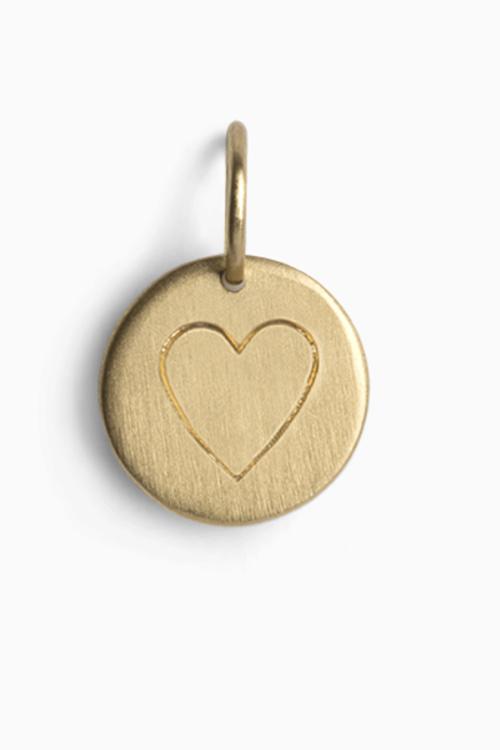 Jane Kønig love tag heart gold