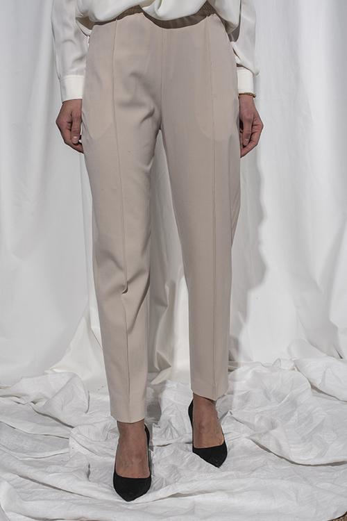 Joseph Dalton Comfort Wool Trousers Stone bukse
