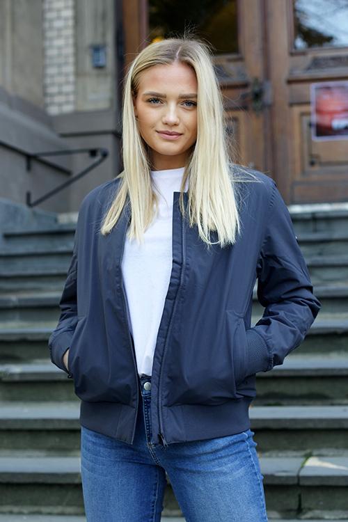 Scandinavian Edition Woman Bomber Grey jakke