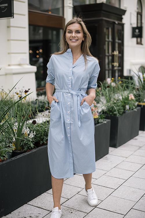 Second Female Orlanda Dress Chambray Blue kjole